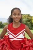 Majorette On Soccer Field de fille Image libre de droits