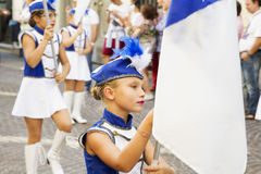 Majorettes in close up Royalty Free Stock Images