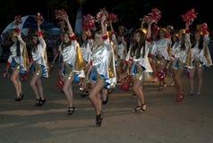 Majorettes dance Stock Photos