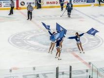Majorettes de hockey sur glace images stock