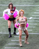 Majorettes de New England Patriots Photos libres de droits