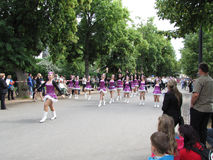 Majorettes in the marching parade contest during National champi Stock Images
