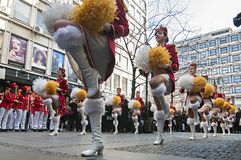 MAJORETTES from Montenegro dance performed in honor of spring Royalty Free Stock Image