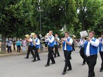 Majorettes na competição de marcha da parada durante o champi nacional Imagens de Stock Royalty Free