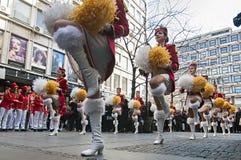 MAJORETTES od Montenegro tana wykonującego na cześć wiosnę Obraz Royalty Free