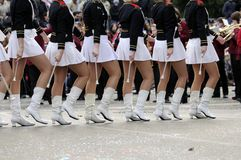 Majorettes parade Stock Images