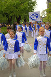 Majorettes on parade Stock Images