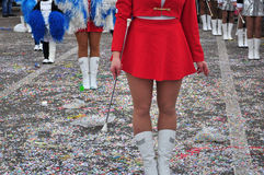 Majorettes ready to start Royalty Free Stock Photography