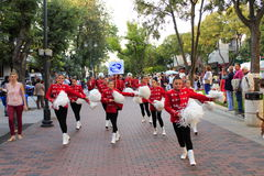 Majorettes on Varna street parade Bulgaria Royalty Free Stock Image
