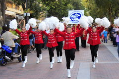 Majorettes on Varna street parade Bulgaria Stock Image