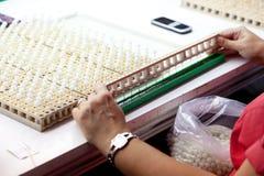 Majorica den Manacor fabriken shoppar royaltyfri foto