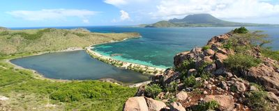 Majors Bay Beach - Saint Kitts Stock Photography