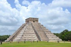 Majowia Jukatan MexiÑ  Ð ¾ ChichenItza Kukulkan staden Zdjęcie Royalty Free