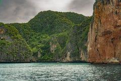 Majowia Phi Phi Podpalane wyspy, Tajlandia Obraz Royalty Free