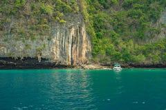 Majowia Phi Phi Podpalane wyspy, Tajlandia Fotografia Royalty Free
