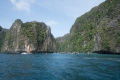 Majowia Phi Phi Podpalane wyspy, Tajlandia Obrazy Royalty Free