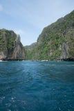 Majowia Phi Phi Podpalane wyspy, Tajlandia Zdjęcia Royalty Free