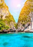 Majowia Phi Phi wysp andaman podpalany morze Krabi, południe Tajlandia Fotografia Royalty Free