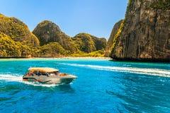 Majowia Phi Phi wysp andaman podpalany morze Krabi, południe Tajlandia Obraz Stock
