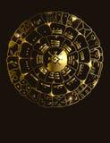 Majowie kalendarz Majscy lub aztek wektorowi hieroglifu znaki ilustracja wektor