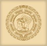 Majowie kalendarz Majski lub aztek hieroglif podpisuje ilustracja wektor