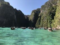 Majowie podpalane łodzie zdjęcie royalty free
