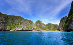 Majowie zatoka przy Andaman morzem, Krabi prowincja Majowie zatoka jest bardzo popula Zdjęcie Stock