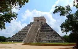 Majska ruiny Pyramide kultura Mexico chitzen itza Yucatan Zdjęcia Stock