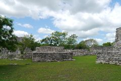 Majska ruiny Pyramide kultura Mexico mayapan Obrazy Royalty Free