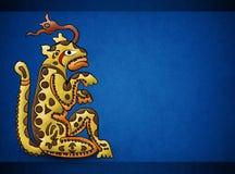 Majski jaguara bóstwo Balam royalty ilustracja