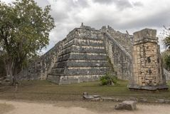 Majski Ossuary przy Chichen Itza obrazy stock
