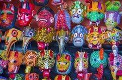 Majskie Drewniane maski Obrazy Stock