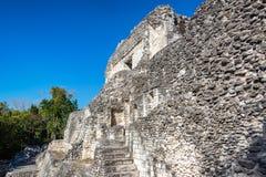 Majskie ruiny w Becan, Meksyk fotografia royalty free