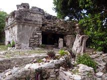 Majskie ruiny w playa del carmen, MX obrazy royalty free
