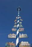Majstång Munich Viktualienmarkt Arkivbilder