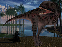 Majungasaurus Crenatissimus - 3D Dinosaur Royalty Free Stock Photos