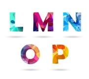 Majuscules colorées abstraites réglées Image stock
