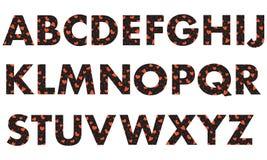 Majuscules de l'alphabet anglais illustration stock