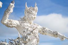 Mak海岛酸值Mak Trat ThailandRong Khun寺庙, Wat荣Khun,白色寺庙, Chiangrai泰国 免版税库存照片