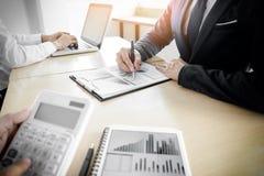 Mak контролера и секретарши бизнесмена администратора финансовый Стоковые Фото