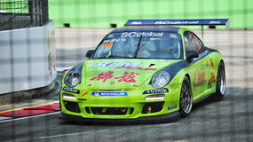 Mak Hing Tak racing at Porsche Carrera Cup Asia Royalty Free Stock Photo