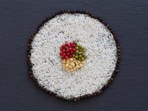 Mak rolki plasterek, robić Rice i condiments Obraz Royalty Free
