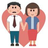 Maka och fru stock illustrationer