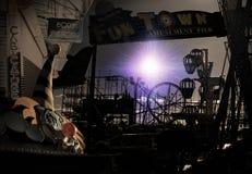 makaber plats för karnevalcirkus Arkivbild