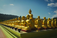 many buddha statue temple Royalty Free Stock Image