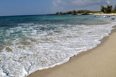 Makalawena strand, stor ö, Hawaii Royaltyfria Foton