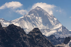Makalu halny szczyt w Everest regionie, Nepal Fotografia Stock