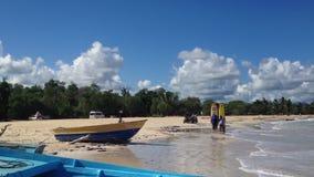 MAKAO, REPUBBLICA DOMINICANA, IL 20 DICEMBRE 2012: Surfisti in mare archivi video