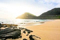 Makapu海滩 库存图片