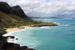 Makapu Beach Hawaii. A view of Makapu Beach in Hawaii Stock Images